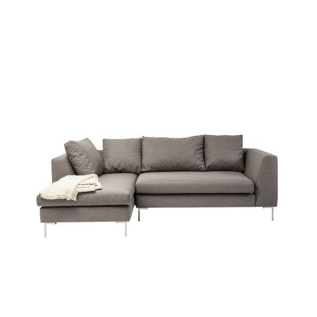 Karedesign Canapé d angle Bruno Panini petit gris gauche Kare Design
