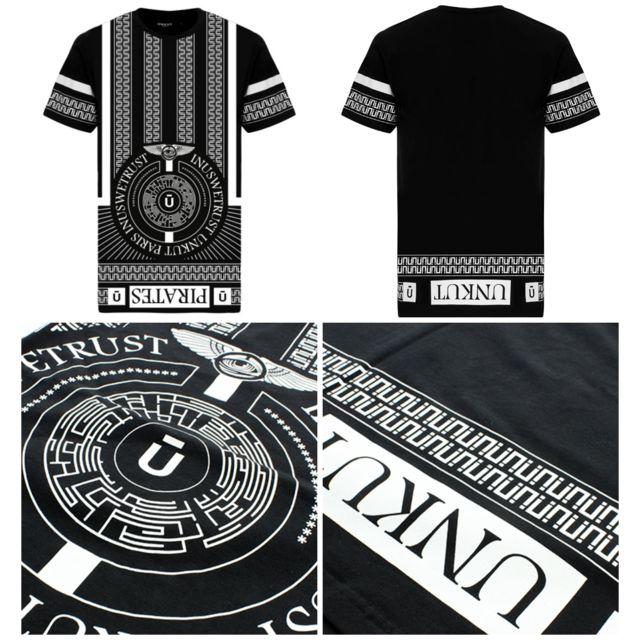 T-shirt Tee Maze Noir Blanc