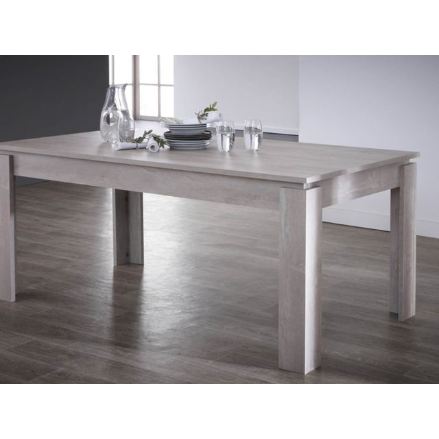 Table repas Segur - 170 x 90 x 77 cm - Chêne champagne