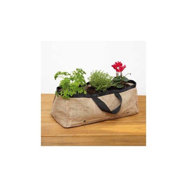 Esschert Design - Grande jardinière terrasse en toile de jute