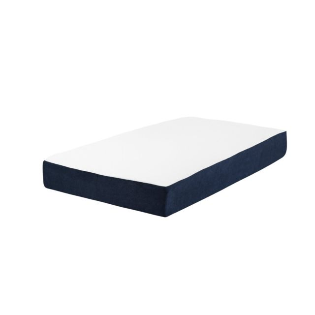 BELIANI Matelas mousse mémoire de forme 90 x 200 cm ALLURE - blanc