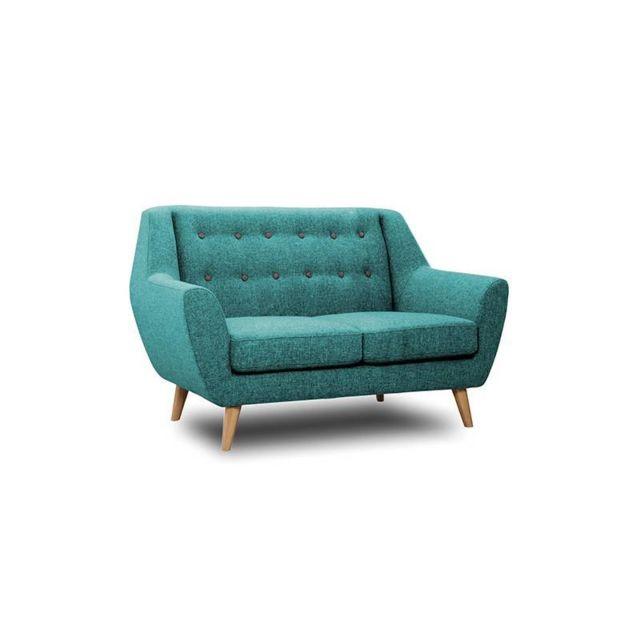 L\'HÉRITIER Du Temps - Canapé 2 Places Midelton Bleu Turquoise Sofa ...