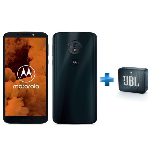 MOTOROLA - Moto G6 Play - Bleu Indigo + Enceinte JBL GO 2 Bleu Marine Bluetooth