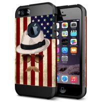 Wewoo - Coque renforcée pour iPhone 6 drapeau et casquette de paille Pc +  Tpu cas 97d4f25ef2e