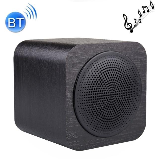 wewoo enceinte bluetooth d 39 int rieur noir portable bois v4 1 haut parleur st r o avec micro. Black Bedroom Furniture Sets. Home Design Ideas