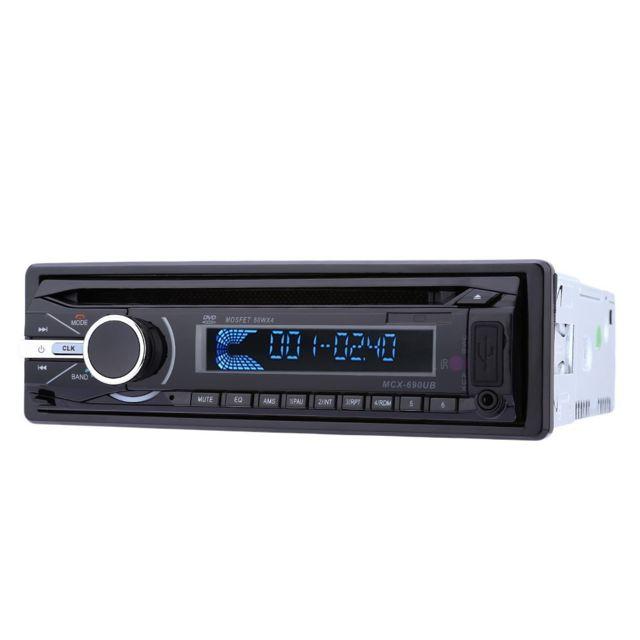 Auto-hightech Autoradio Stéréo Bluetooth pour Voiture avec Télécommande et Fonction Fm - Noir