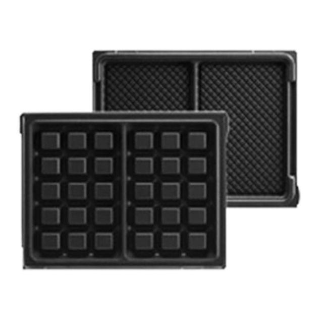 LAGRANGE plaques 2 maxi gaufres pour tarti'gaufres - 020122