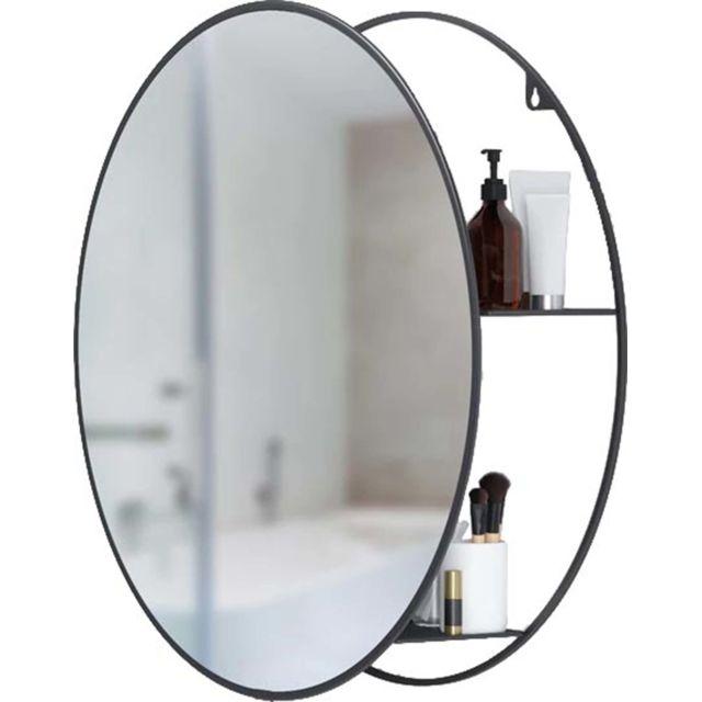 UMBRA Miroir rond avec rangement intégré Cirko
