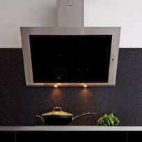 Silverline - Hotte cuisine murale Toundra verre noir et inox 60 cm