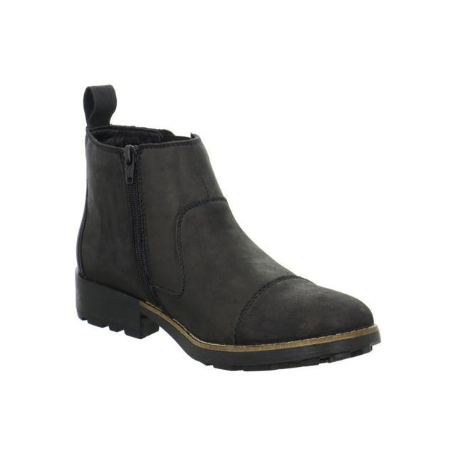 Rieker 3605000 Noir 45 pas cher Achat Vente Boots