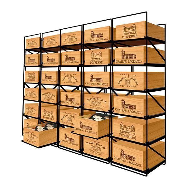 Modulorack Racks coulissants pour 30 caisses de vin en Bois soit 360 bouteilles - Aci-mod514H