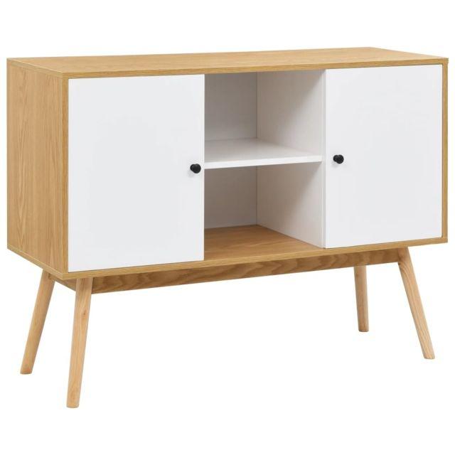 Blanc Georgetown 110x40x82 et Buffet cm edition Armoires Mdf rangement de meubles Fc3TKlJ1