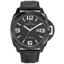 Certus - Montre 610789 - Montre Noir Ronde Dateur Homme