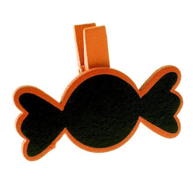 1001decotable ardoise bonbon sur pince marque place orange le sachet de 6 pas cher achat. Black Bedroom Furniture Sets. Home Design Ideas