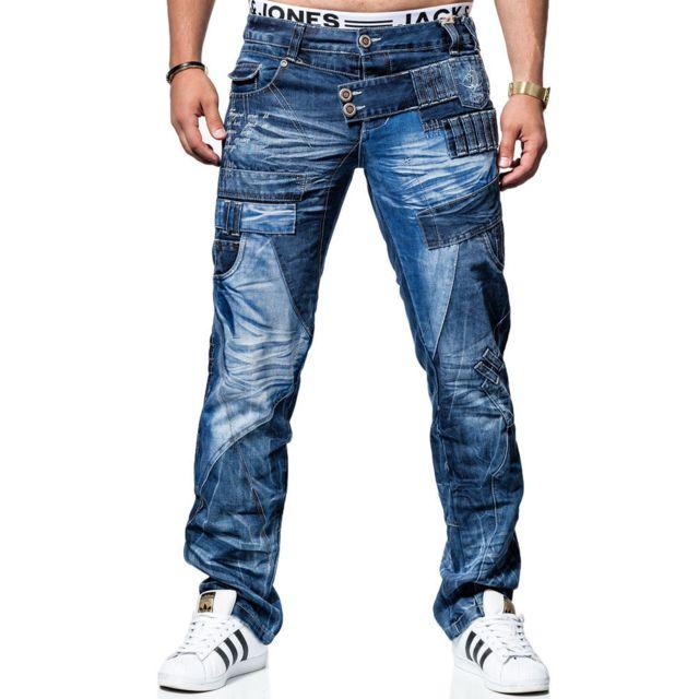 Kosmo Lupo Jean fashion Jean Kl050 bleu