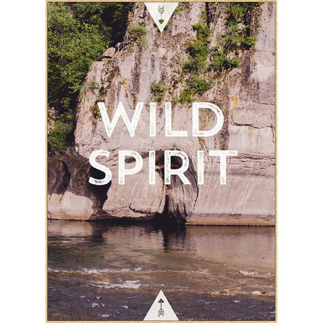Cm Creation Tableau en bois avec cadre chêne motif nature + Wild film mat  50x70cm Back 855a0bf90ec