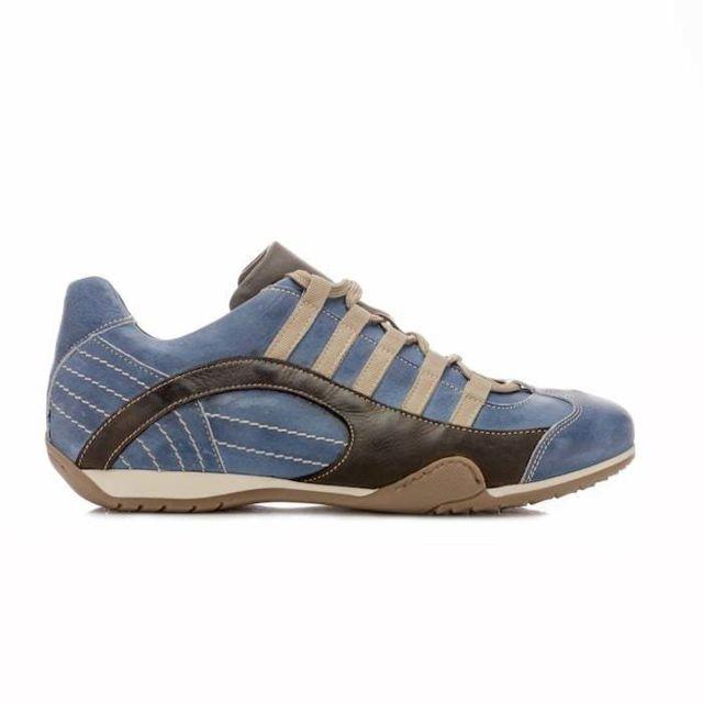 Gulf Chaussures Grand Prix Original Seca bleues en cuir