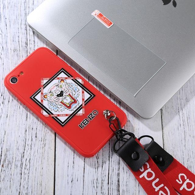Wewoo - Coque renforcée pour iPhone 8 et 7 pleine couverture Kenzo Tigre  Motif Housse de 054e6e35aae