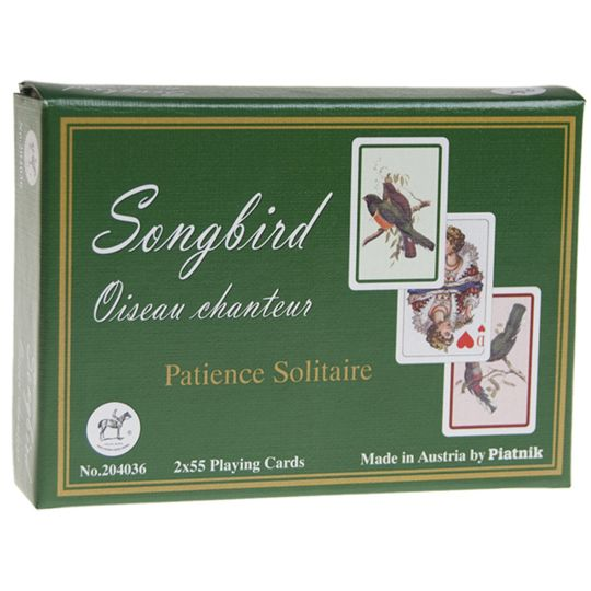 Poker Production - Songbird Patience : 2 jeux de cartes