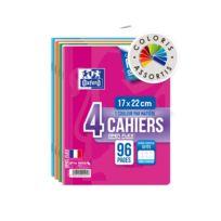 Oxford - Lot de 4 Cahiers agrafés Openflex - Petit format-Grands carreaux