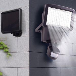 idmarket projecteur solaire 120 led avec d tecteur de mouvement pas cher achat vente. Black Bedroom Furniture Sets. Home Design Ideas