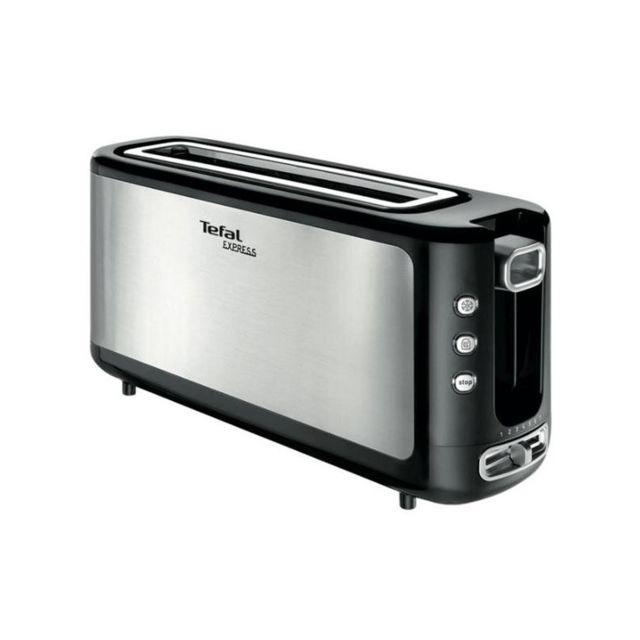 Tefal Grille pain 1000W Toaster Inox 1 fente Longue Touche d'Ejection Fonction Décongélation