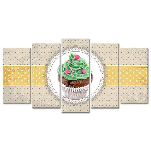Declina Tableau déco pâtisserie cupcake pour cuisine - Tableau pas cher
