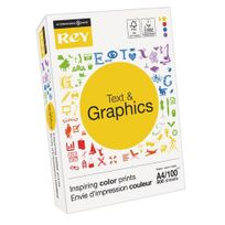 Rey - Ramette papier Text & Graphics A4 100 g - 500 feuilles - blanc