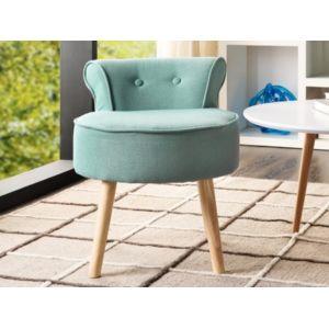 marque generique petit fauteuil crapaud savea en tissu vert d 39 eau pas cher achat vente. Black Bedroom Furniture Sets. Home Design Ideas