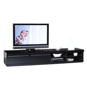 meuble tv alpha noir laqu - Meuble Tv Noir Laque Pas Cher