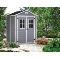 KETER - Premium 65 - Abri de jardin en résine - 2,80m² - Gris