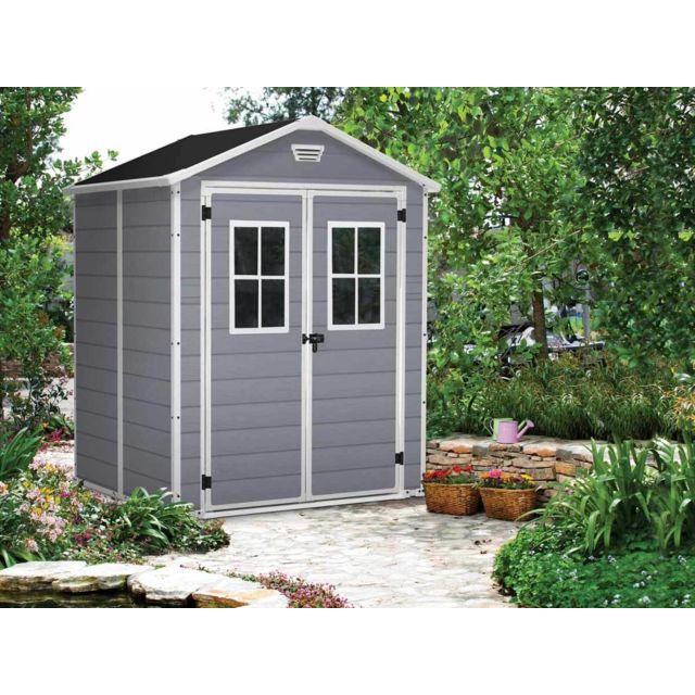 Keter premium 65 abri de jardin en r sine 2 80m gris pas cher achat vente abris en - Abri de jardin en resine premium 65 ...