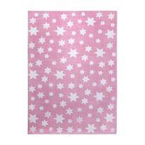Wecon Home - Tapis Jean Stars Rose par - Couleur - Rose, Taille - 80 / 150 cm