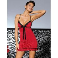 Obsessive - Nuisette et string Calypso rouge - Taille S/M