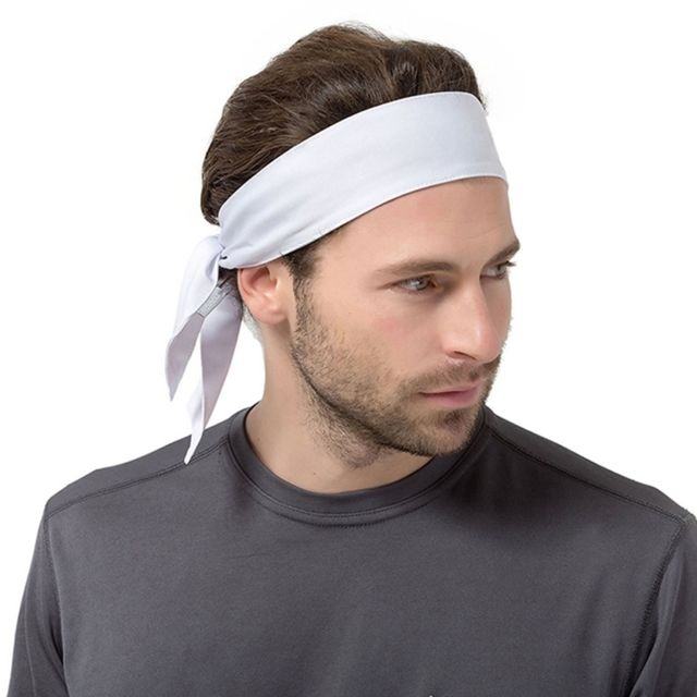 catch limited guantity special for shoe Bandeau blanc Unisexe transpiration extensible exercice Yoga Gym Bandana  Sweatband Tie Écharpe Wrap, Taille: 1.2 0.06m
