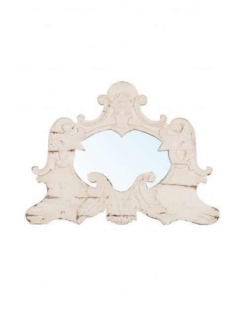 Decoshop Miroir décoratif en bois blanc