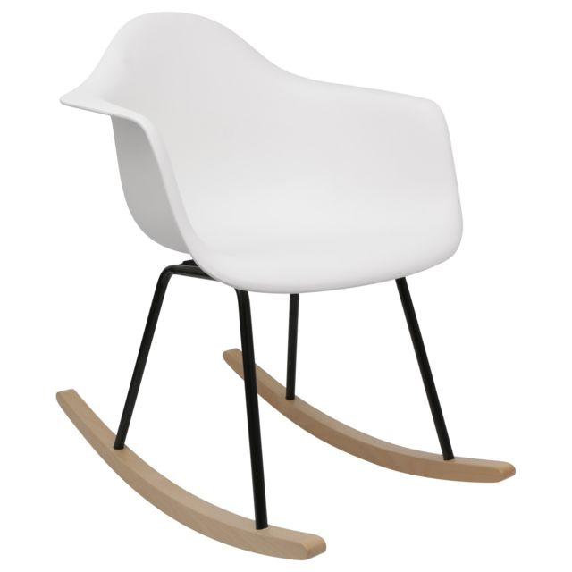 Chaise Privee Rocking Chair Rar Lounge Evo Blanc - No