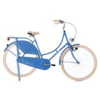 "KS CYCLING - Vélo hollandais dame 28"" Tussaud Singlespeed Bleu TC 53 cm"