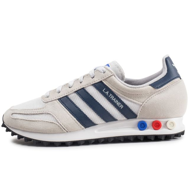 Adidas originals La Trainer Beige Et Bleu Marine pas
