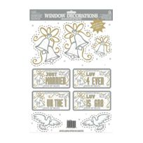 Rubies - 9 Decorations Vitres Mariage Assorties