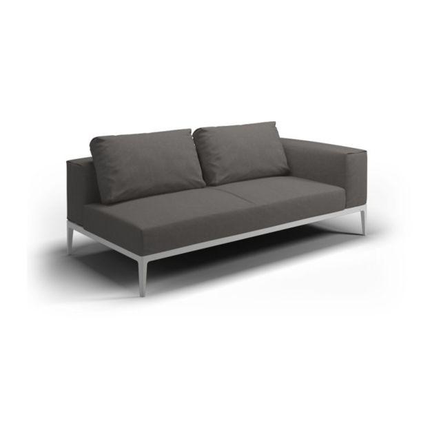 Gloster Sofa Grid - granite - acier époxy blanc