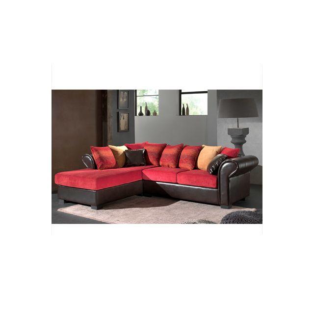 Canapé d'angle fixe gauche aztec bimatière Djerba