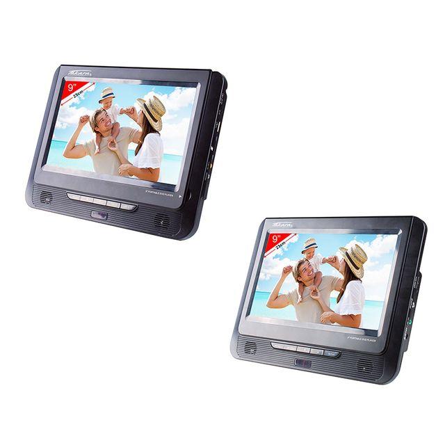 Lot De 2 Lecteurs Dvd Portable Vrt179 Noir