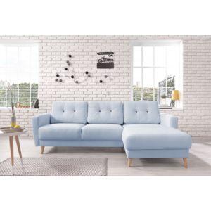 bobochic oslo canap d 39 angle droit bleu poudr. Black Bedroom Furniture Sets. Home Design Ideas