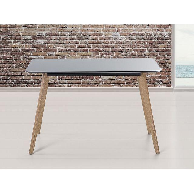 BELIANI - Table de salle à manger - table de cuisine - noir - 120x80 ...