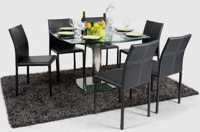 Verre Allonges Table Transparent Avec Carrée Plateau Lekingstore uZXiPk