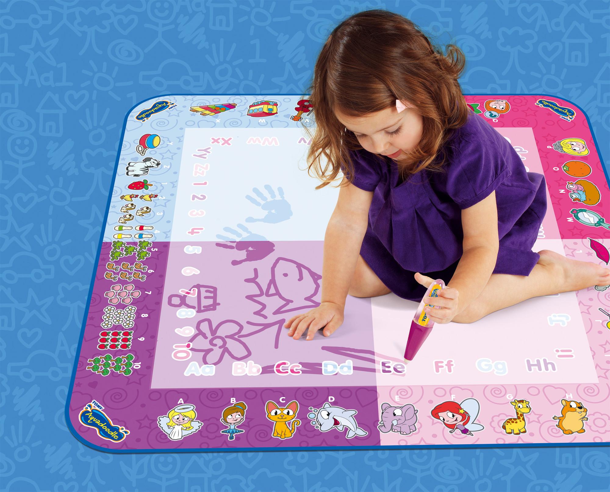 Aquadoodle tapis classique 4 couleurs rose t72371 pas cher achat vente tapis d 39 veil - Tapis aquadoodle classique ...