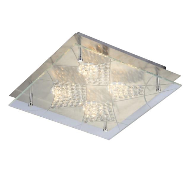 Kosilum - Lustre Plafonnier Led carré 30 cm - Solaris - En Soldes ...