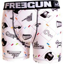 Monopoly - Freegun Boxer Garçon Microfibre Pla Blanc