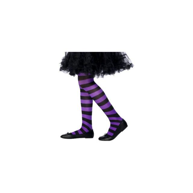 Marque Generique - Collants de sorcière violet pour enfant. Couleur   Noir 3d84a08b95f
